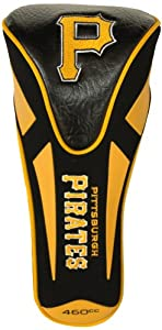MLB Pittsburgh Pirates Single Apex Head Cover, Black by Team Golf