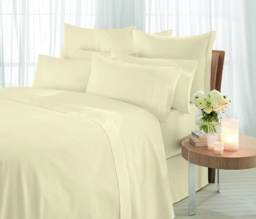 Sheridan Essentials, 1000 Thread Count Vanilla, Cotton Sateen, Flat Sheet, Super King, 305 x 270 cm
