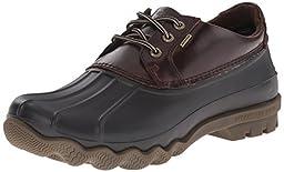 Sperry Top-Sider Men\'s Avenue Duck 3-eye Winter Boot, Black/Amaretto, 8.5 M US