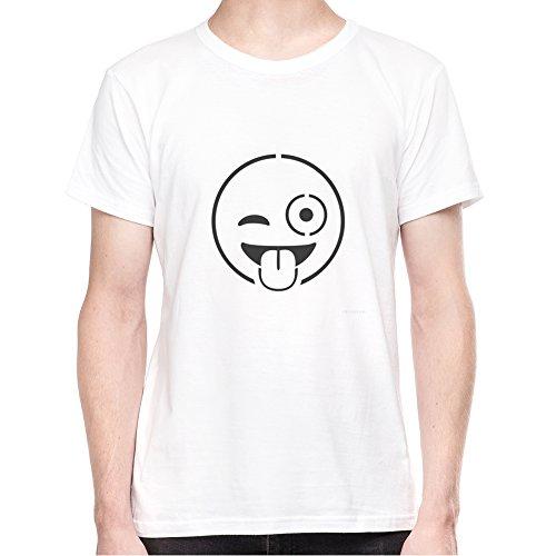 Cheeky Wink Emoji T-Shirt - Uomo - XX-Large