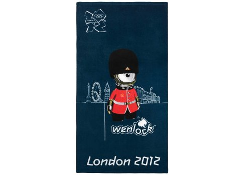 Collection officielle Jeux Olympiques Londres 2012 'Queen's Guard` Serviette de Plage drap de Bain ANGLETERRE 68 cm x 136cm 100 % Coton