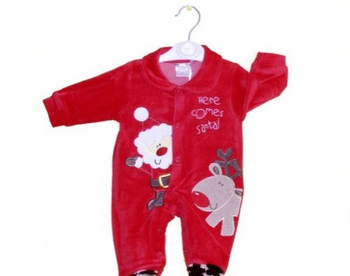 Here Comes Santa All in One Christmas Outfit for Infants 3-6 Months