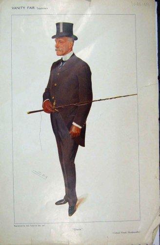 1909 Vanity Fair Cartoon Colonel Shuttleworth Spy
