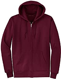 Joe\'s USA(tm) Full Zipper Hoodies - Hooded Sweatshirts Size 2XL, Maroon