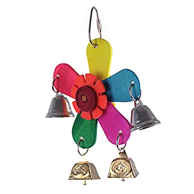 Lovely Parrot Windmill Toys Bird Toy with Swings Bells