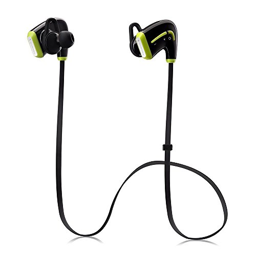 TECEVO Sport auricolari wireless Bluetooth, Bluetooth 4,0, sudore-Proof auricolari cuffie wireless con built-in microfono