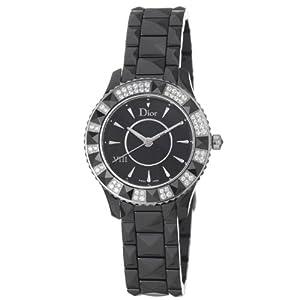 Christian Dior VIII Diamond Bezel Black Ceramic Ladies Watch 1231E1C001