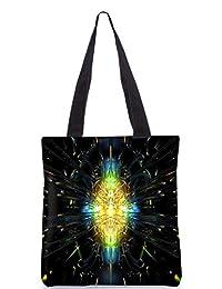 Snoogg Abstract Design Digitally Printed Utility Tote Bag Handbag Made Of Poly Canvas - B01C8LRJCA