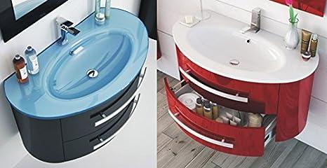 Mobile Arredo Bagno 100cm sospeso moderno lavabo disp. in 30 colori anche bianco Mobili