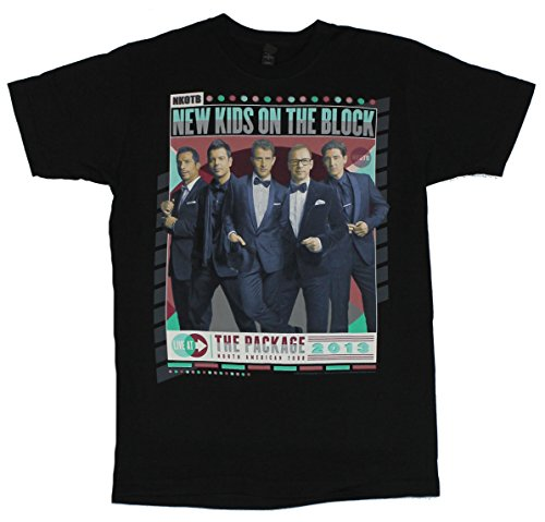 64c4081ce7b New Kids on the Block NKOTB Mens T-Shirt - Package Tour Full Color Suited