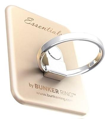 Bunker Ring Essentials【Matte 6 Color】iPhone5S/iPhone5C/iPhone5/iPhone4S/iPad mini/iPad2/iPad/iPod/Galaxy/Xperia/Arrows/ELUGA/HTC/URBANO・各種スマートフォン/各種タブレット対応・落下防止・スタンド機能・着脱可能【正規輸入品】UDBREMG006 (Matte Gold)