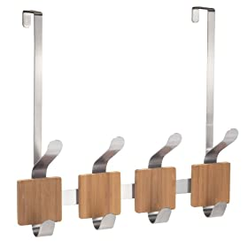 InterDesign Formbu Over-the-Door Rack 4 Brushed Stainless Steel