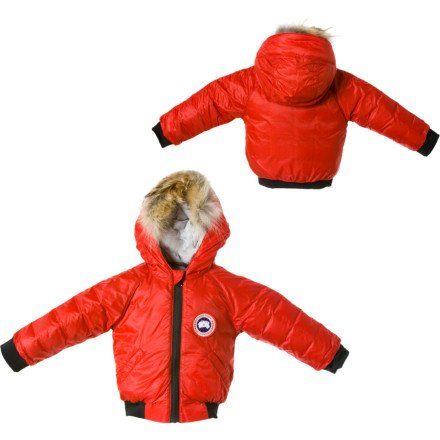 Canada Goose Reese Down Bomber Jacket - Infant Girls' Red, 0-3