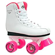 Roller Derby Youth Girls Roller Star 350 Quad Roller Skates - White/Pink - U320G