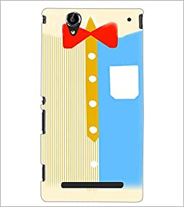 PrintDhaba Ribbon D-4802 Back Case Cover for SONY XPERIA T2 ULTRA (Multi-Coloured)