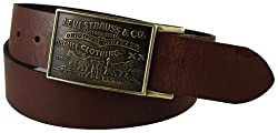 Levis Mens Bridle Leather Belt, Brown, 40