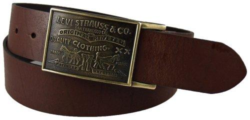 Levis Mens Bridle Leather Belt, Brown, 44