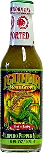Iguana Mean Green Hot Jalapeno Pepper Sauce 5 Ounce Bottle from Half Moon Trading Company