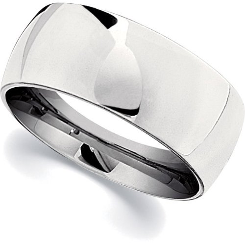 Cobalt Chrome, Polished Domed Wedding Band (sz 10.5)
