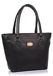 Utsukushii Women's Handbag(Black,BG1386A)