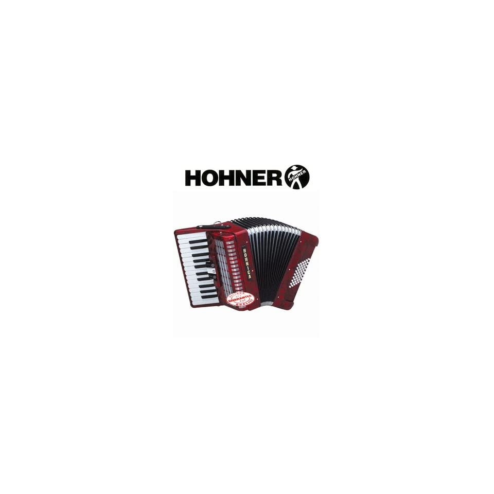 Hohner Hohnica Tremolo Piano Accordion 48 Bass 26 Keys Red