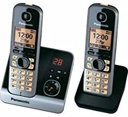 Panasonic KX-TG6722BX Cordless Landline Phone with Answering Machine