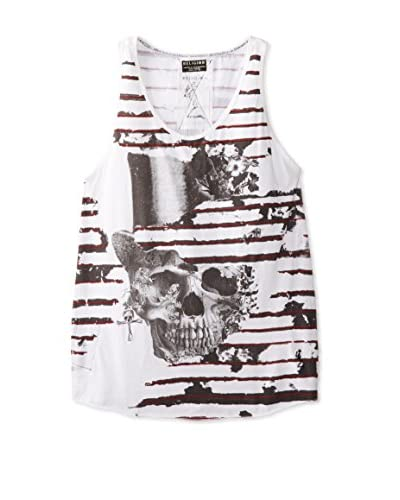 Religion Men's Ripped Stripes Pretty Skull Tank