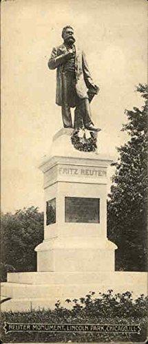 reuter-monument-lincoln-park-chicago-illinois-original-vintage-postcard