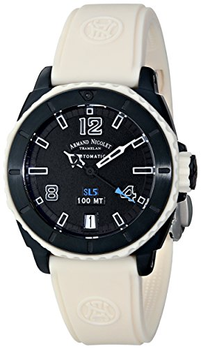 Armand Nicolet Women's 9615H-GR-G9615B SL5 Sporty Automatic D.L.C. Black Stainless Steel Watch