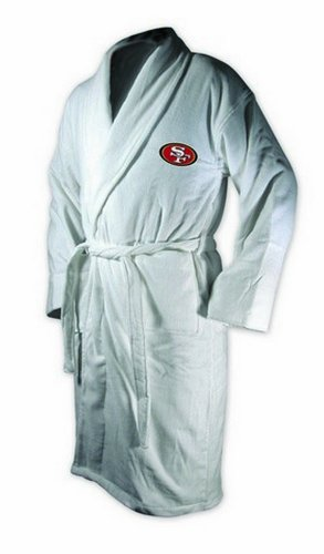 San Francisco 49ers White Heavy Weight Bath Robe at Amazon.com