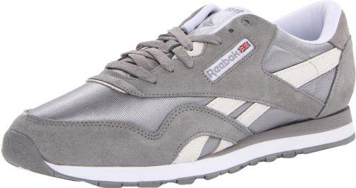 Reebok Men'S Classic Nylon Monocolor Shoe,Flat Grey/White/Steel,11.5 M Us