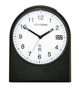 "Widdop Hometime ""Washington"" Radio Controlled Black Alarm Clock - 5265"