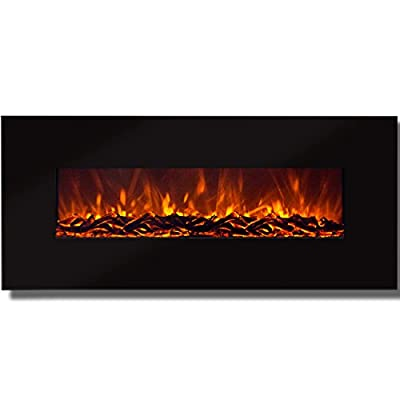 """Best Choice Products 50"""" Electric Wall Mounted Fireplace Heater Smokeless Ventless Adjustable Heat"""
