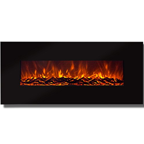 "Subdue Choice Products 50"" Electric Wall Mounted Fireplace Heater Smokeless Ventless Adjustable Warm up excite"