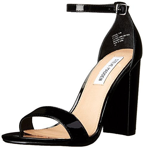 Steve Madden Women's Carrson Dress Sandal, Black Patent, 10 M US