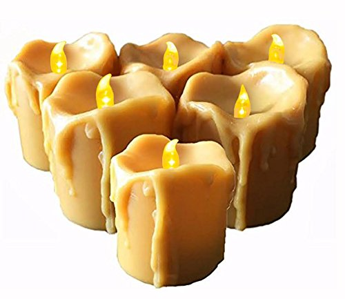 Battery Operated Candles with Timer,6 Flameless Candles, Frosted Flickering
