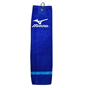 ew Mizuno Golf - Tri Fold Clip Towel - Staff Blue