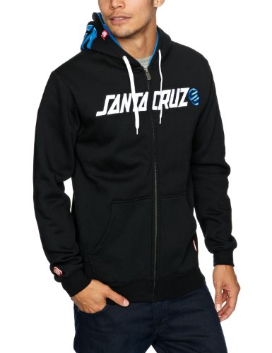 SANTA CRUZ Capital Hood Men's Sweatshirt Black X-Large