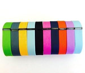 Set 10 Colors Large L Replacement Bands for Fitbit FLEX Only With Clasps /No tracker/ 1pc Orange 1pc Violet 1pc Red (Tangerine) 1pc Teal (Blue/Green) 1pc Navy 1pc Green (Lime) 1pc Black 1pc Slate (Blue Grey) 1pc Purple/Pink 1pc Light Blue Bands Wireless Activity Bracelet Sport Wristband Fit Bit Flex Bracelet Sport Arm Band Clasp Armband