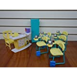 Barbie Size Dollhouse Furniture - Classroom Play Set