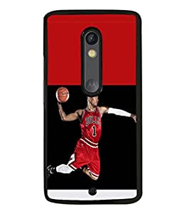 printtech Basketball Bulls Back Case Cover for Moto X Pure Edition