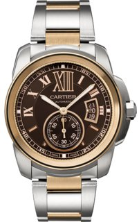 Cartier Calibre De Cartier Chocolate Brown Dial Mens Watch W7100050