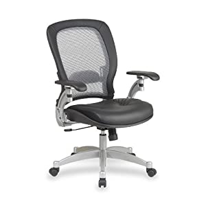 SPACE® Air Grid® Series Executive Chair CHAIR,LTHR GRID MGRS (Pack of 2)