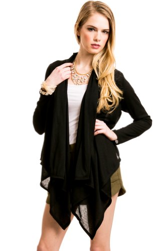 Full Drape Cardigan In Black