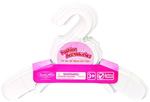 Set of 10 Plastic Doll Hangers, Fits 18 Inch American Girl Dolls Clothes, Doll Accessories - 1