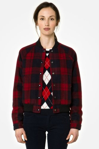 L!VE Plaid Bomber Jacket