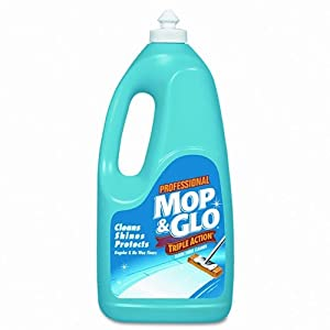 MOP & GLO Triple Action Floor Cleaner, 64 oz., 6/Carton