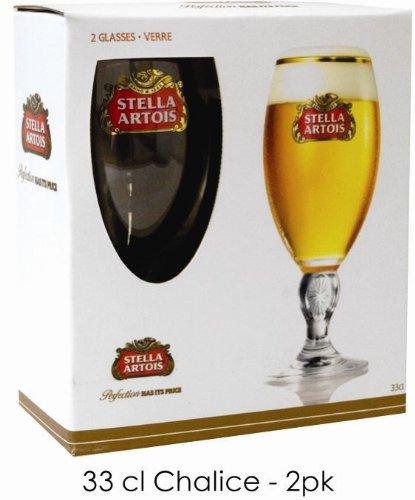 stella artois pilsner beer chalis set of 2. Black Bedroom Furniture Sets. Home Design Ideas