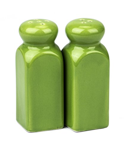 Classic Porcelain 4.25-Inch Salt & Pepper Shakers (Salt And Pepper Shakers Green compare prices)