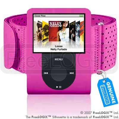 FreeLogix - Armband for Apple iPod Nano 3rd Generation 3G - Hot Pink